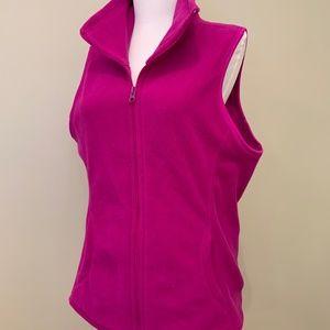 Old Navy Fuchsia Fleece Vest (M)